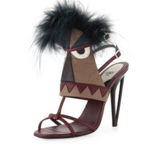 Fendi monster heels